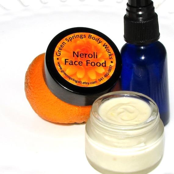 Orange Blossom  Neroli Face  Food Moisturizer and Lavender  Neroli Hydrosol 1 oz Set-Sale