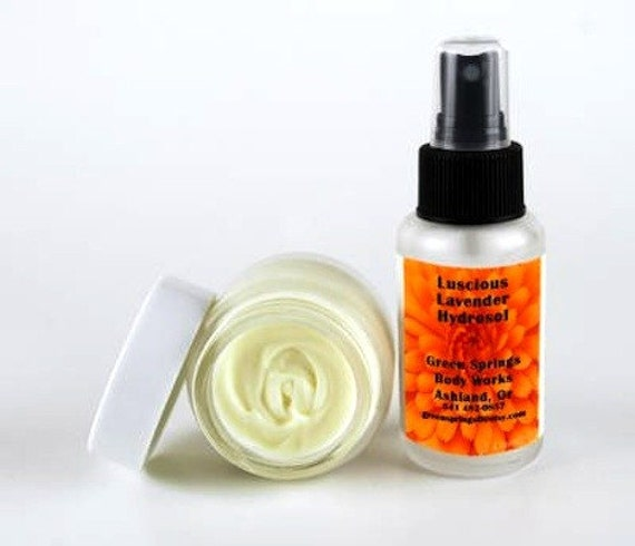 Organic Lavender Face Food Moisturizer and  Lavender Hydrosol Set