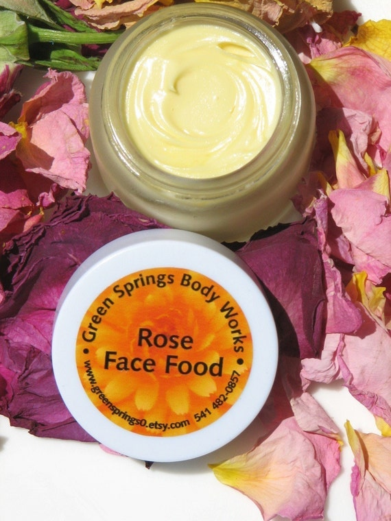 Organic Rose Face Food  Anti-aging Moisturizer Cream