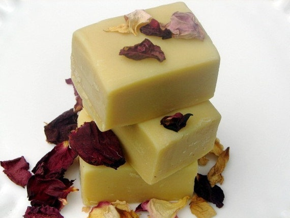 Organic Neroli Rose  Goat's Milk Soap Complexion Bar - Perfect Valentines Day Gift