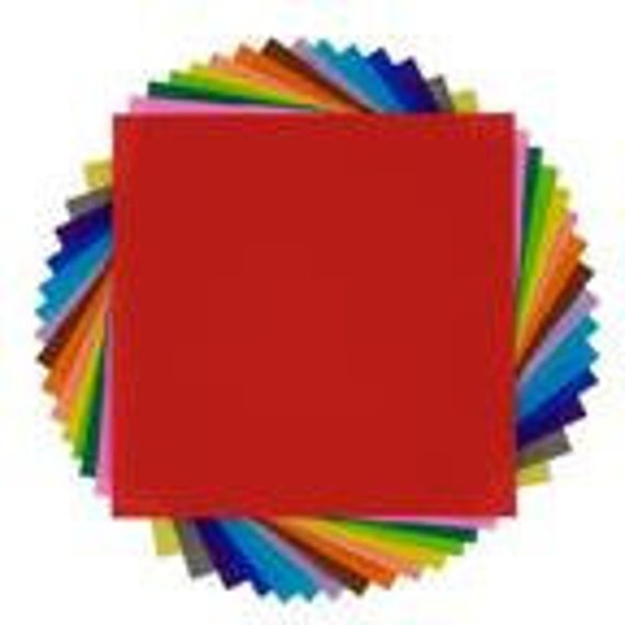 PIF 24 sheets solid color origami paper rainbow