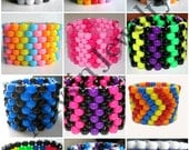 Custom Kandi Cuff, Create Your Own Rave Jewelry, You Pick Colors and Patterns