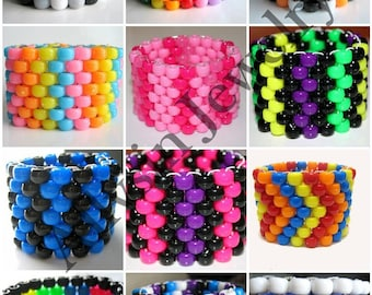 Create Your Own Kandi, Choose Colors and Patterns, Custom Kandi Cuff Bracelet
