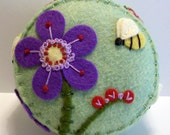Big Purple Flower Pincushion
