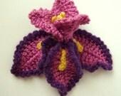 Crochet Iris Flower Pattern PDF