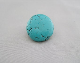 Faux Turquoise Polymer Clay Long Shank Button