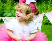 Hot Pink Polka Dot Over The Top Bow Headband