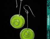 Bright Green Hand Etched-...