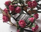 Scarlet O'Hara Rose Earrings by PhatGrrl