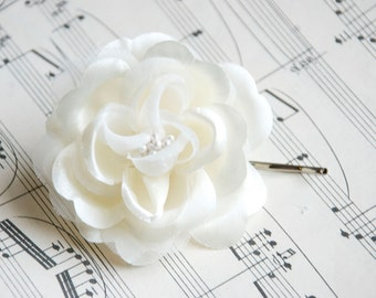 ivory Wedding hair flower - wedding hair piece- ivory flower - wedding hair accessories