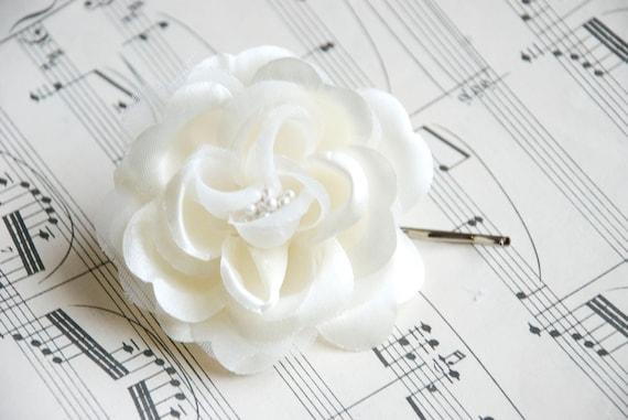 ivory Wedding hair flower - wedding hair piece- ivory flower - wedding hair accessories