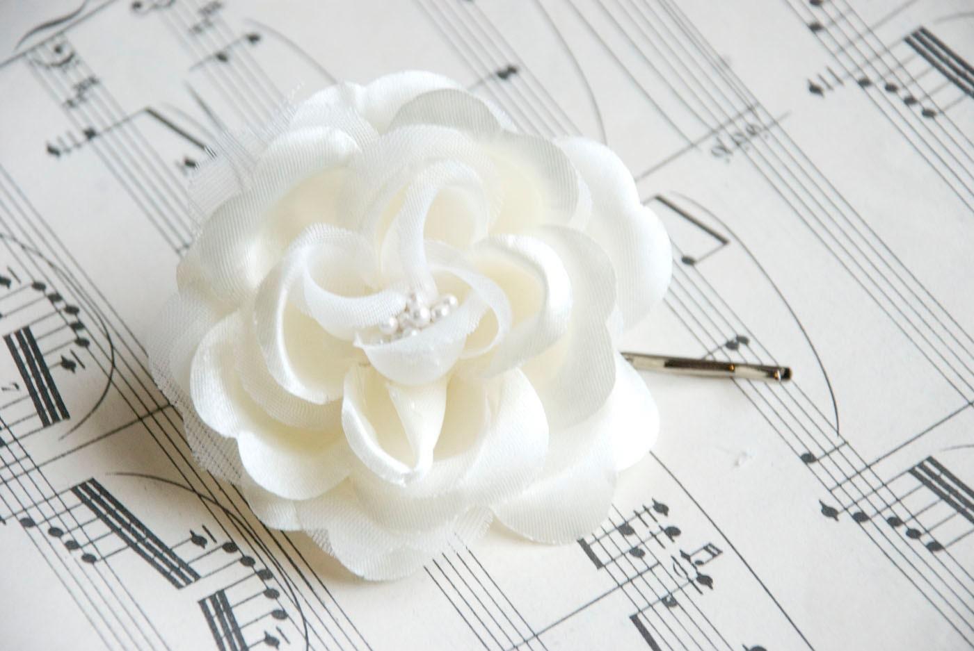 Weddings White Hair Flower Bridal Piece Head