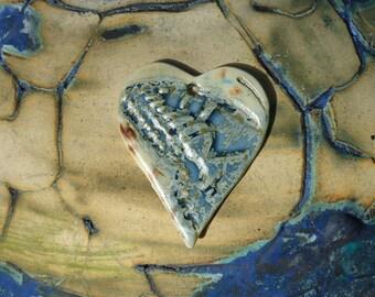 Stoneware Heart Pendant