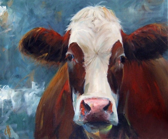 Cow Painting Carmen 20x24 Original Painting