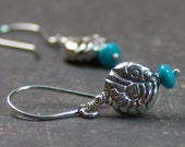 Sterling Silver Nacozari Turquoise  Earrings
