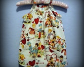 Alexander Henry For My Valentine Pillowcase Dress, Size 2T