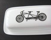 tandem bicycle butter dish