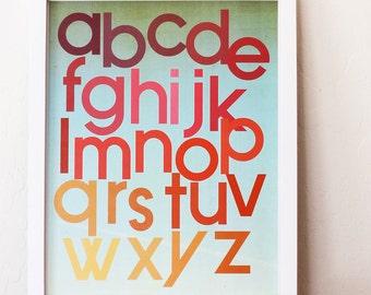 Mod Berry Alphabet Poster 11x14