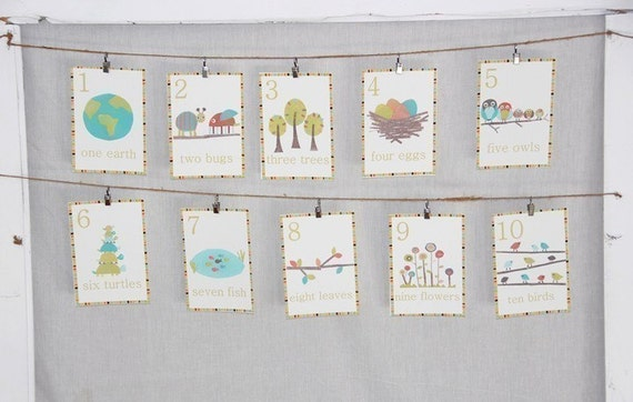 8x10 Wall Cards 1-10 Gender Neutral Nature Scene
