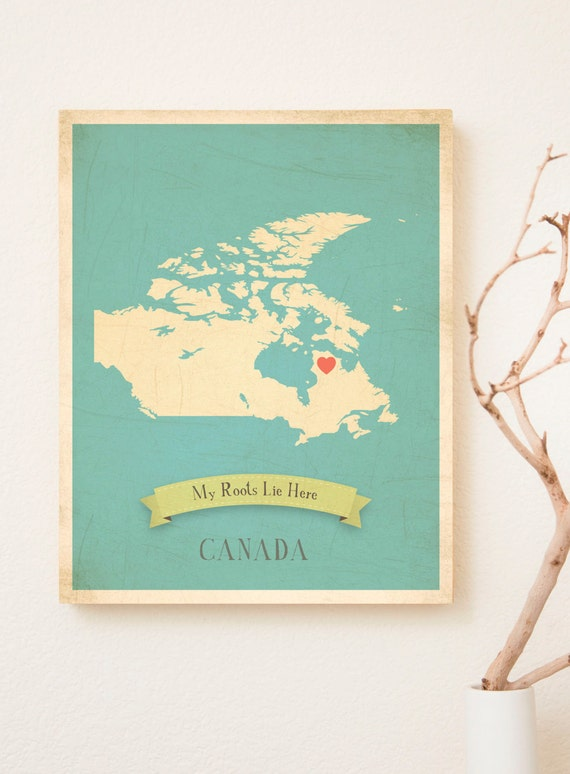 Pick Your Country Personalized Vintage Map Wall Art 11x14, Nursery Wall Art, Kid's Art, Kid's Decor, Gender Neutral Nursery