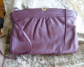 Vintage Etienne Aigner Oxblood Leather Clutch Purse