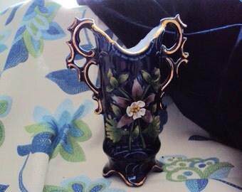 Vintage Midnight Blue Porcelain Bud Vase