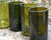 Set of 4 Tumblers made from recycled wine bottles