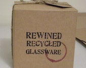 Gift Packaging for Rewined Recycled Glassware