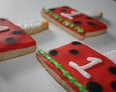 Ladybug Cake Cookies (Personalized and Individually Bagged and Boxed)
