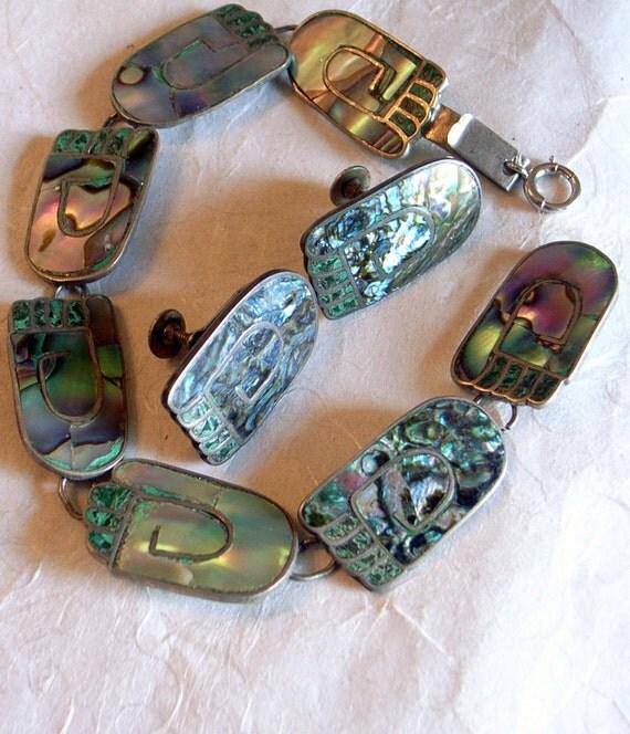 RESERVED Barefoot Bracelet AND Screw Back Earrings - BETO