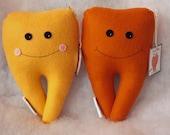 SALE Tooth Fairy Pillow Buddy--Orange