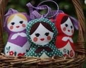 Russian Doll Matryoshka Lavender Babushka filled with organic lavender from my garden
