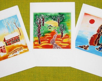 Handmade cards - Scenery 02, A place called home
