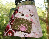 Reversible Apron Retro Print Patchwork size 2 - 4 year