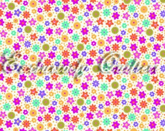 Sweet Flirtations Dots Flowers on White Fabric 1 Yard