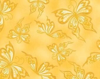 Rhapsody Yellow Butterflies Fabric 1 Yard