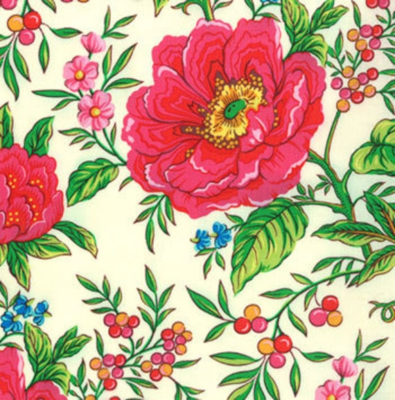 Summer House Floral Fabric 1 Yard