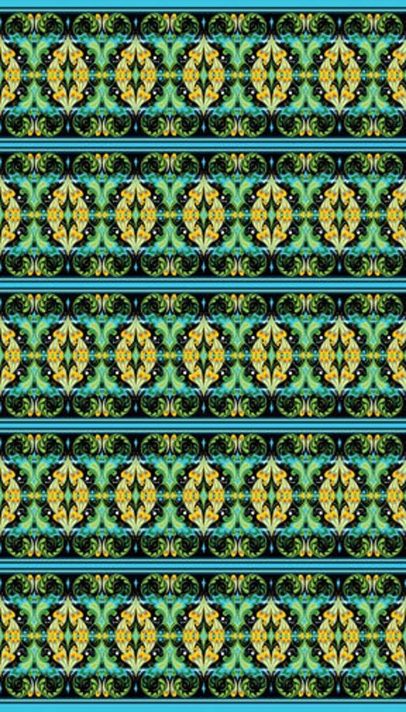 Rhapsody Black Border Stripe Fabric 1 Yard