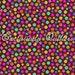 Sweet Flirtations Dots Flowers on Brown Fabric 1 Yard