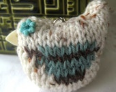 Knitted Birdy key ring