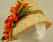 Cloche Hat Knotted Sisal