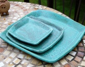 3 Plate Place Setting in Turquoise