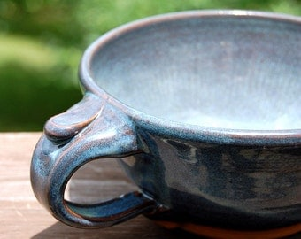 Cappuccino Cup In Slate Blue - Made to Order