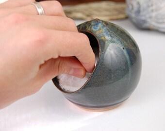 Salt Pig or Salt Cellar In Slate Blue - Made to Order
