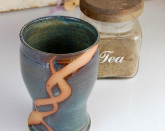 Pint Glass in Slate Blue with Rust Chain - Made to Order