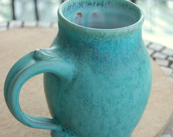 Huge Monster Mug in Turquoise- Made to Order