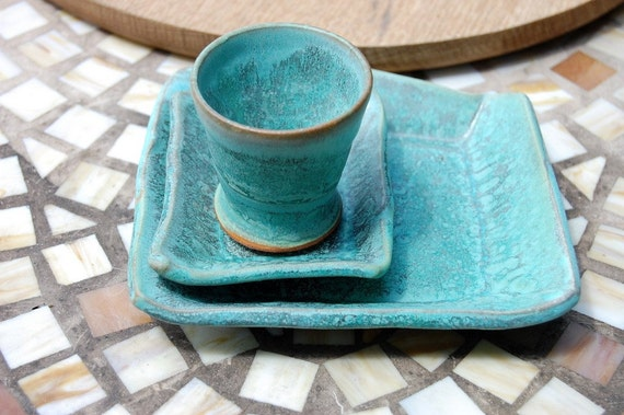 Breakfast for One in Turquoise- Made to Order