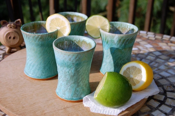 Four Turquoise Half Pints- Made to Order