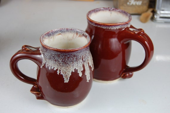 Stoneware Coffee Mug in Red Agate- Made to Order