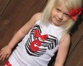Custom Zebra Minnie Tank w/ Initial...Size 4T OR 6/7....CLEARANCE SALE